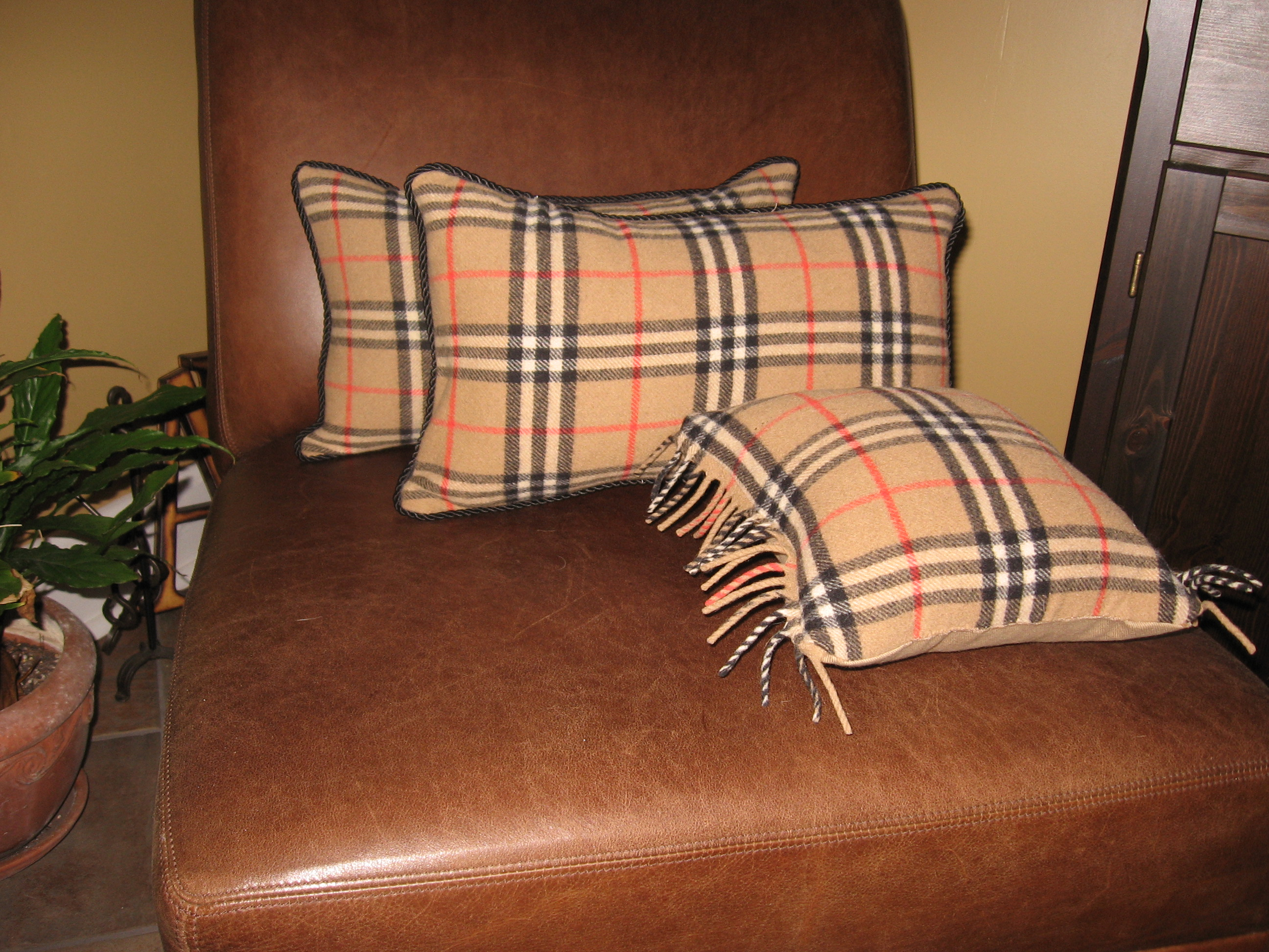 Burberry Accent Pillows
