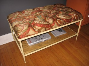 Paisley Tufted Bench